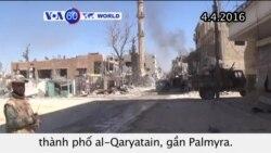 Không kích Nga giúp đánh bật IS ra khỏi al-Qaryatain (VOA60)