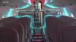 Robot untuk Membasmi Virus Korona di Pesawat Udara