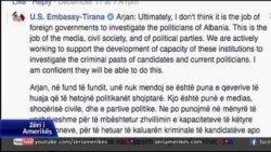 Ambasadori Donald Lu flet në Facebook për korrupsionin