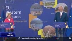 Von der Leyen: Nisja e bisedimeve me Tiranën e Shkupin brenda vitit