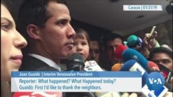 Venezuelan Interim President Says Security Forces Threatened His Family