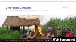 One of villagers' houses in Koh Kong province was torched to clear the way for sugar farm. (Screen shot of EU Website for clean sugar campaign)