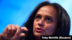 FILE - While leading Angola's state-owned oil firm, Sonangol, Isabel dos Santos speaks at a Reuters Newsmaker event in London, Oct. 18, 2017. She's being investigated for alleged improprieties at the company.