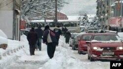 Maqedonia përfshihet nga rreshjet e borës dhe i ftohti i madh
