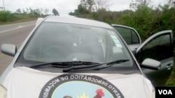Carro que transportava candidato do MDM a governador de Maputo