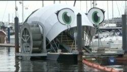 Пожирач сміття, що очищує річку в Балтиморі, став зіркою соцмереж. Відео