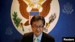 2017年12月15日美國北韓問題特使尹汝尚大使在泰國曼谷與媒體見面。