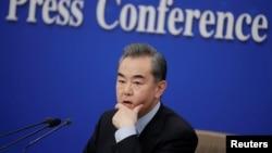 Ông Vương Nghị tại cuộc họp báo ngày 8/3/2019 tại Bắc Kinh.