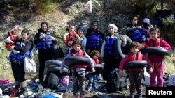 Sirijski migranti na grčkom ostrvu Lezbos