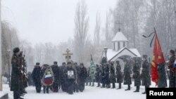 Les funérailles du pilote russe Oleg Peshkov, le 2 décembre 2015. (REUTERS/Maxim Zmeyev)