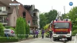 Almanya'da Küçük Uçak Binaya Düştü