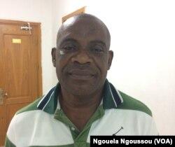 Didier Clotaire Boutsindi, candidat dans le Pool, à Brazzaville, le 12 mai 2017. (VOA/Ngouela Ngoussou)