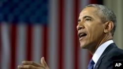 Tổng Thống Obama phát biểu tại Hanover, Đức, ngày 25/4/2016.