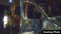 Автомобиль, в котором передвигались подозреваемые в терроризме. Фото с официального интернет-сайта МВД Кабардино-Балкарии