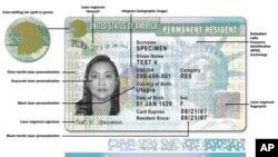 美国永久居民签证的一个样本