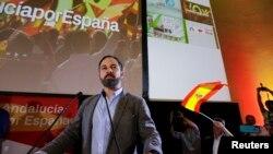Santiago Abascal, chef du parti d'extrême droite espagnol VOX, qui espère créer la surprise dimanche.