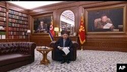 金正恩1月1日發表新年致辭