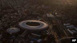 Foto udara stadion Maracana di Rio de Janeiro, Brazil (8/6).