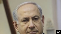Israeli Prime Minister Benjamin Netanyahu is seen during the weekly cabinet meeting in Jerusalem, Sunday, 27 Dec 2009