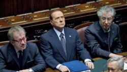 Italian Prime Minister Silvio Berlusconi at a meeting of parliament on Tuesday