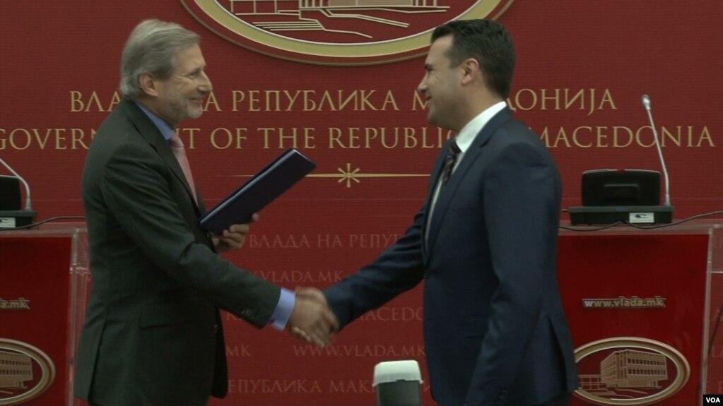 Krerët evropianë, Mogherini dhe Hahn në Shkup