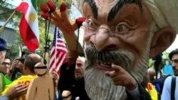 2015-09-29 美國之音視頻新聞: 聯合國總部附近的抗議活動