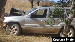 The vehicle in which former Deputy Mines Minister, Edward Chindori-Chininga, died in when his car rammed a tree in Mashonaland Central Province