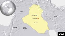 Bản đồ Samarra, Iraq.