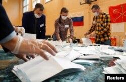 підрахунок голосів на виборчій ділянці в РФ