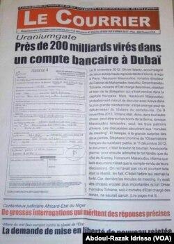 Le Courrier a révélé l'affaire en février 2017. (VOA/Abdoul-Razak Idrissa)