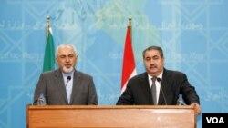 هشیار زیباری و محمدجوادظریف، وزیران خارجه عراق و ایران