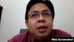 Direktur Eksekutif Indikator Politik Indonesia Burhanuddin Muhtadi. (Foto: screenshot)