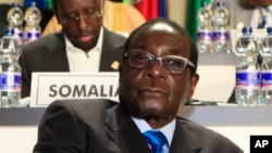 President Robert Mugabe at AU Summit in 2011.