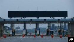 開城工業園區自四月份以來一直關閉後的冷清情形。(2013年5月3日資料照片)