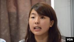 關學聯青年組織幹事黎韻瑤(VOA 湯惠芸攝)