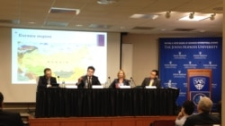 Rumsfeld fellows discuss Eurasian Economic Union. Panel at Johns Hopkins university, 4 May, 2015. (Part I)