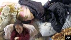 지진 피해자 수용시설의 일본인