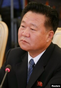 FILE - Choe Ryong Hae, a close aide of North Korea's leader Kim Jong Un, attends a meeting with Russia's Foreign Minister Sergei Lavrov in Moscow, Nov. 20, 2014.