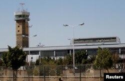 FILE - The Sanaa International airport is seen in Sanaa, Yemen, Nov. 23, 2017.