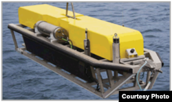 "The Phoenix Synthetic Aperture Sonar, or ProSAS-60, provides a ""higher degree of resolution,"" especially at the outer ranges of sonar. (Photo courtesy of Phoenix International Holdings, Inc.)"