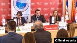 """Učesnici konferencije """"Istraživanje stavova sudija i tužilaca o stanju u pravosuđu Srbije"""" (Foto: presscentar.rs)"""
