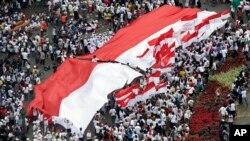 اتحاد و یک جہتی کے حق مین جکارتا میں ریلی۔ 4 دسمبر 2016