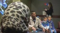 Familia de refugiados sirios llega a EE.UU.