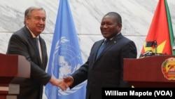 António Guterres e Filipe Nyusi em Maputo