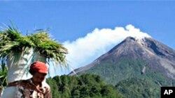 인도네시아의 화산 폭발