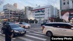 Kantor KBRI dan IIPC di Seoul, Korea Selatan, yang ditutup sejak Jumat (28/2) karena temuan satu kasus virus korona di dekat lokasi kompleks itu. (courtesy: KBRI Seoul)