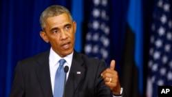 Prezida Barack Obama w'Amerika muri Estoniya