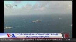 TQ xác nhận hàng không mẫu hạm Liêu Ninh diễn tập trên Biển Đông