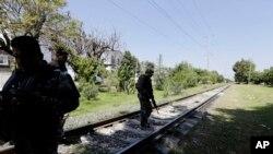 Une voie ferrée