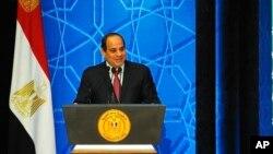 Le président égyptien Abdel-Fattah el-Sissi au Caire, Égypte, 8 décembre 2016